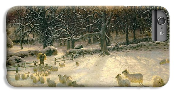 Sheep iPhone 8 Plus Case - The Shortening Winters Day Is Near A Close by Joseph Farquharson