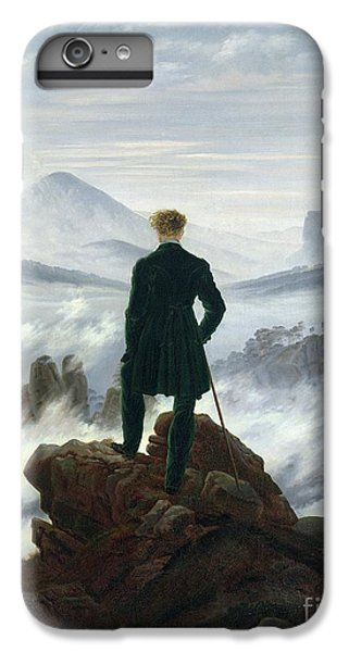Landscapes iPhone 8 Plus Case - The Wanderer Above The Sea Of Fog by Caspar David Friedrich