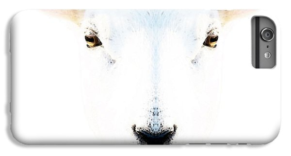 Sheep iPhone 8 Plus Case - The White Sheep By Sharon Cummings by Sharon Cummings