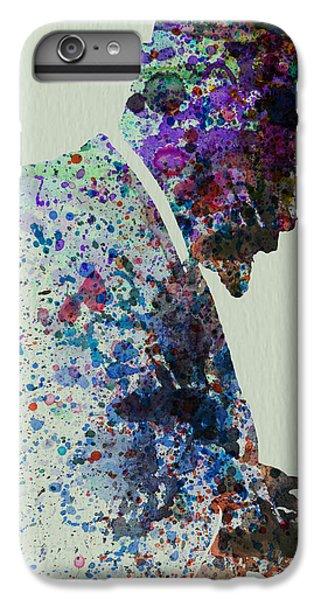 Saxophone iPhone 8 Plus Case - Thelonious Monk Watercolor 1 by Naxart Studio