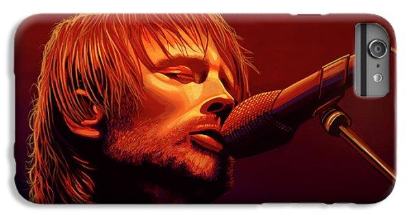 Drum iPhone 8 Plus Case - Thom Yorke Of Radiohead by Paul Meijering