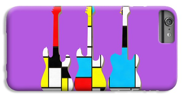 Guitar iPhone 8 Plus Case - Three Guitars Modern Tee by Edward Fielding