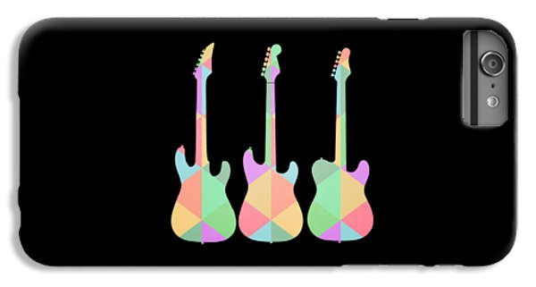 Guitar iPhone 8 Plus Case - Three Guitars Triangles Tee by Edward Fielding