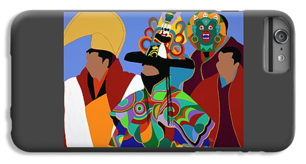 iPhone 8 Plus Case - Tibetan Monks Cham Dancer by Synthia SAINT JAMES