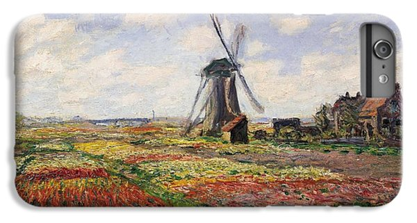 Impressionism iPhone 8 Plus Case - Tulip Fields With The Rijnsburg Windmill by Claude Monet