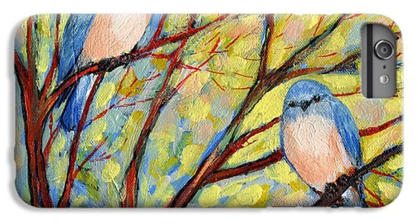 Shrub iPhone 8 Plus Case - Two Bluebirds by Jennifer Lommers