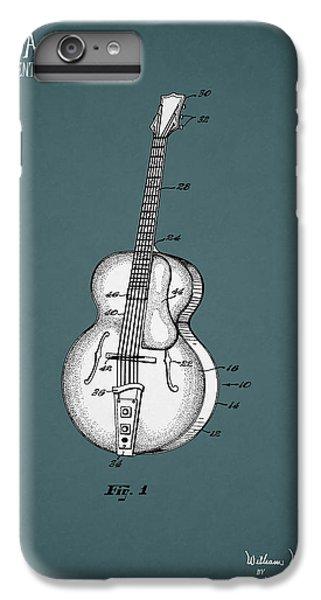 Guitar iPhone 8 Plus Case - Vega Guitar Patent 1949 by Mark Rogan