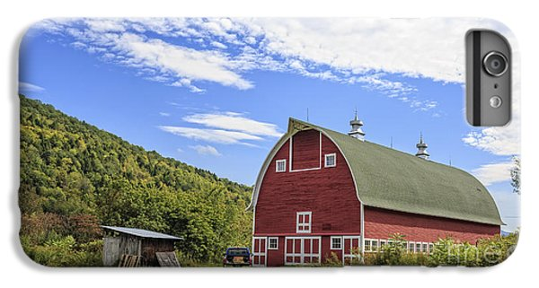 New England Barn iPhone 8 Plus Case - Vermont Red Barn Route 5 by Edward Fielding