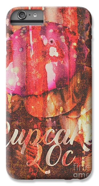 Fairy iPhone 8 Plus Case - Vintage Cupcake Tin Sign by Jorgo Photography - Wall Art Gallery