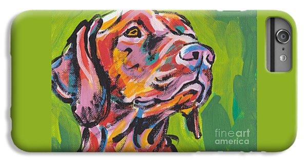 Dog iPhone 8 Plus Case - Viva La Vizsla by Lea S