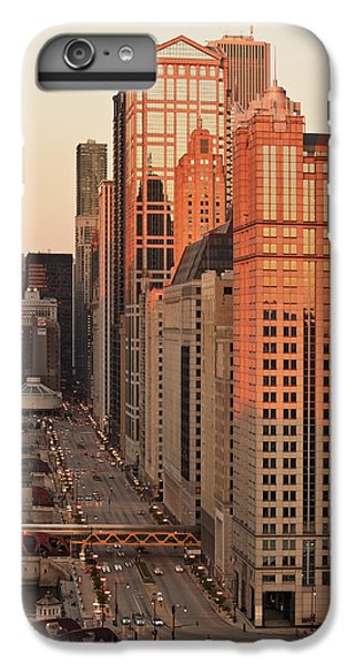 Chicago River iPhone 8 Plus Case - Wacker Drive Sunset Chicago by Steve Gadomski