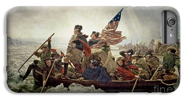 Cross iPhone 8 Plus Case - Washington Crossing The Delaware River by Emanuel Gottlieb Leutze