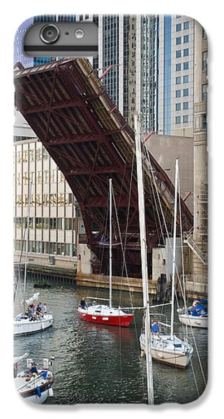 Chicago River iPhone 8 Plus Case - Washington Street Bridge Lift Chicago by Steve Gadomski