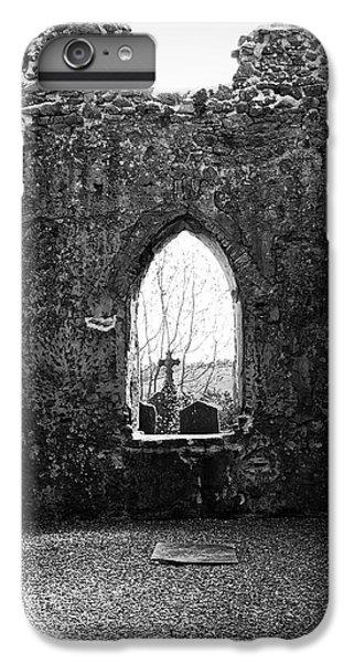 Celtic Cross iPhone 8 Plus Case - Window At Fuerty Church Roscommon Ireland by Teresa Mucha