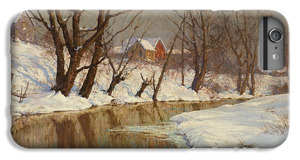Rural Scenes iPhone 8 Plus Case - Winter Morning by Walter Launt Palmer