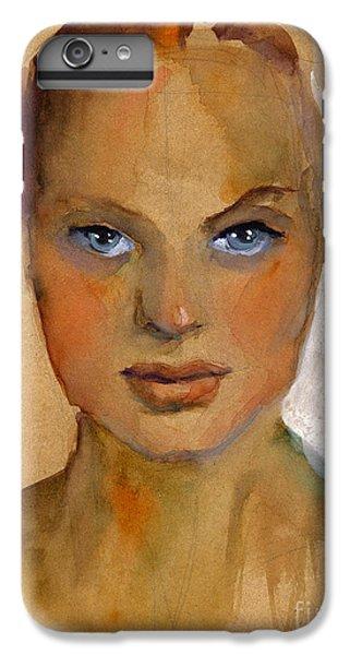 Portraits iPhone 8 Plus Case - Woman Portrait Sketch by Svetlana Novikova