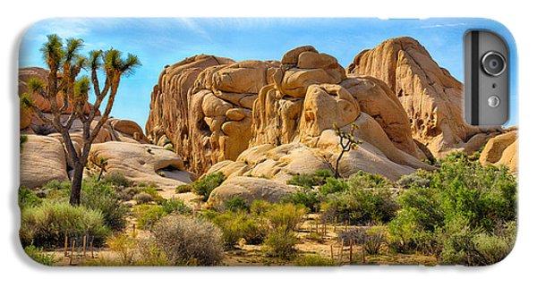 Shrub iPhone 8 Plus Case - Boulders And Joshua Trees In Joshua by Gary C. Tognoni