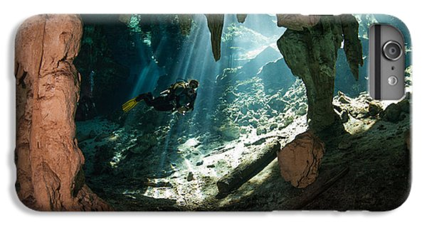 Scuba Diving iPhone 8 Plus Case - Cave Diving In Cenote by Marcus Bay