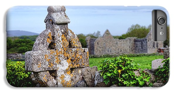 Celtic Cross iPhone 8 Plus Case - Celtic Cross At Kilmacduagh Monastery  by Olivier Le Queinec