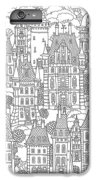 Shrub iPhone 8 Plus Case - Fantasy Landscape. Fairy Tale Castle by L. Kramer