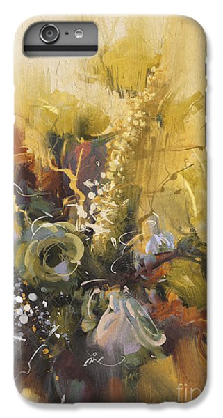 Shrub iPhone 8 Plus Case - Painting Showing Bouquet Of Beautiful by Tithi Luadthong