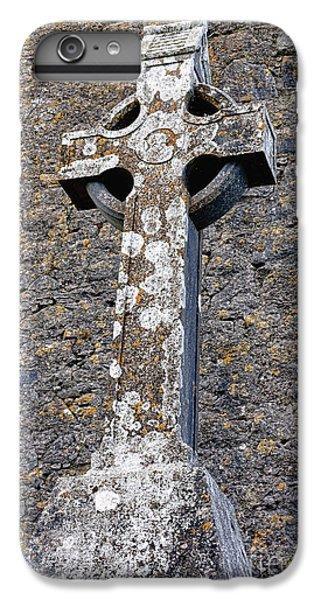 Celtic Cross iPhone 8 Plus Case - Stone Celtic Cross by Olivier Le Queinec