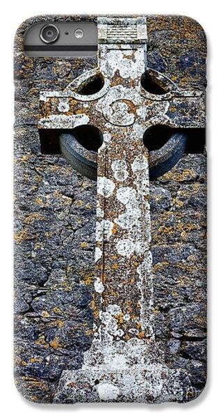 Celtic Cross iPhone 8 Plus Case - Stone Irish Cross by Olivier Le Queinec