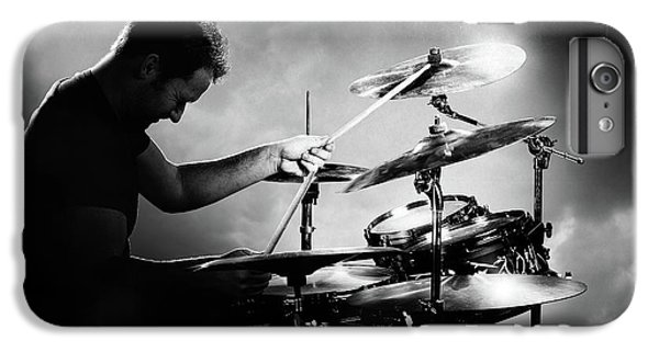 Rock And Roll iPhone 8 Plus Case - The Drummer by Johan Swanepoel