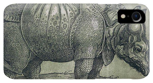 Albrecht Durer iPhone XR Case -  The Rhinoceros by Albrecht Durer