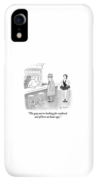 Bar iPhone XR Case - A Bartender Talks To A Member Of The Mafia by David Borchart