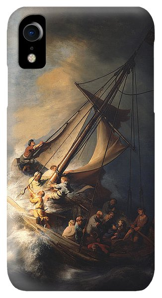 Spirituality iPhone XR Case - Christ In The Storm On The Sea Of Galilee by Rembrandt Van Rijn