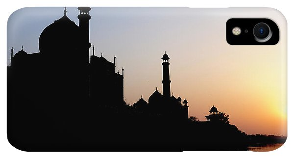 Roxbury iPhone XR Case - Silhouette Of The Taj Mahal At Sunset by Steve Roxbury