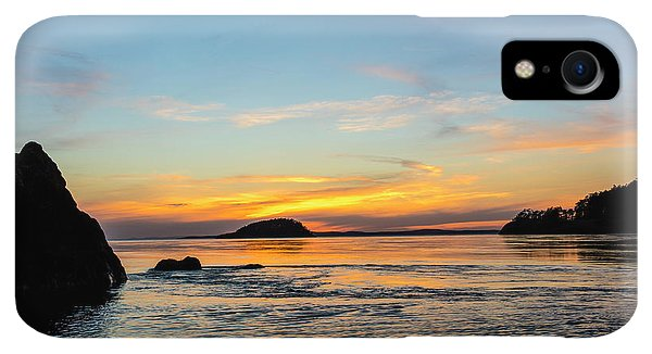 Whidbey iPhone XR Case - Sunset From North Beach With Deception by Chuck Haney