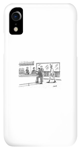Bar iPhone XR Case - Don't Worry. He's Covered By Aflac by Tom Cheney