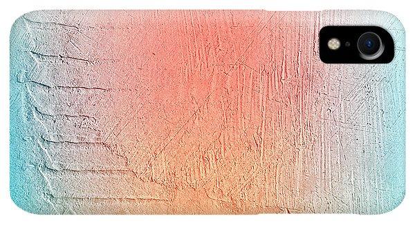 Space iPhone XR Case - Grunge Retro Vintage Paper Texture by Leksustuss