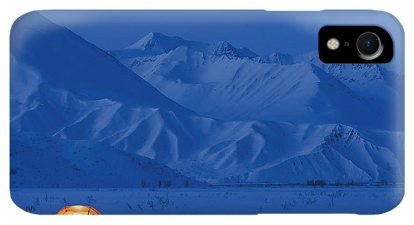 Winter iPhone XR Case - A Backpacking Tent Lit Up At Twilight by Kevin Smith
