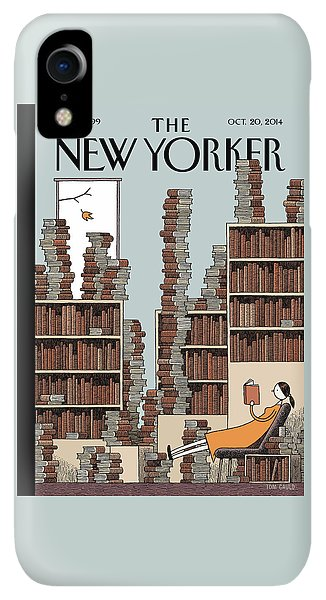 20th iPhone XR Case - Fall Library by Tom Gauld