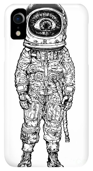 Space iPhone XR Case - Amazement Astronaut. Vector Illustration by Jumpingsack