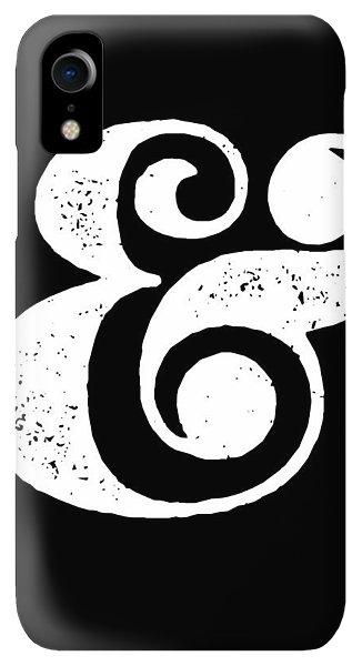 Print iPhone XR Case - Ampersand Poster Black by Naxart Studio