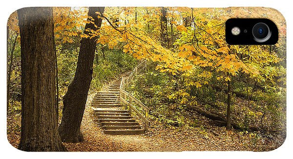 Kettles iPhone XR Case - Autumn Stairs by Scott Norris