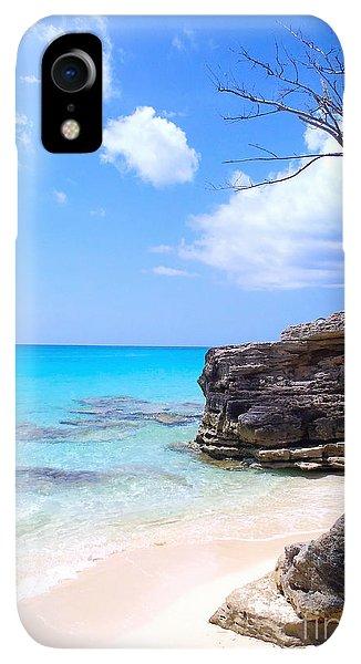 Scuba Diving iPhone XR Case - Bimini Beach by Carey Chen