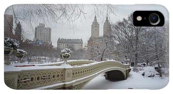 Scenic iPhone XR Case - Bow Bridge Central Park In Winter  by Vivienne Gucwa