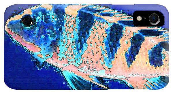 Scuba Diving iPhone XR Case - Bubbles - Fish Art By Sharon Cummings by Sharon Cummings