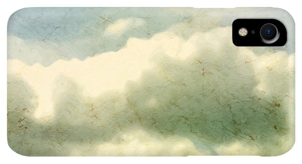 Space iPhone XR Case - Clouds. Grungy Vector Illustration by Vik Y