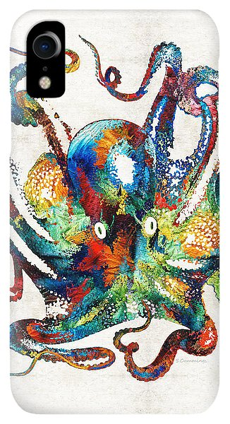 Scuba Diving iPhone XR Case - Colorful Octopus Art By Sharon Cummings by Sharon Cummings
