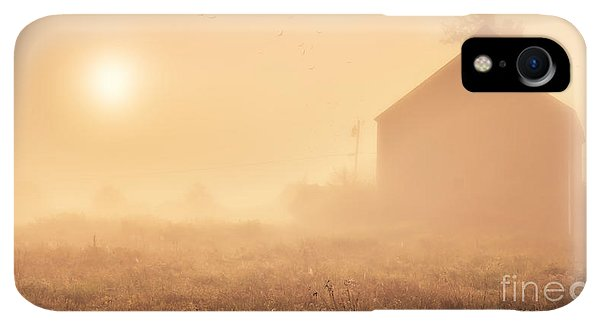 Etna iPhone XR Case - Early Foggy Morning On The Farm by Edward Fielding