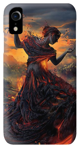 Print iPhone XR Case - Elements - Fire by Cassiopeia Art