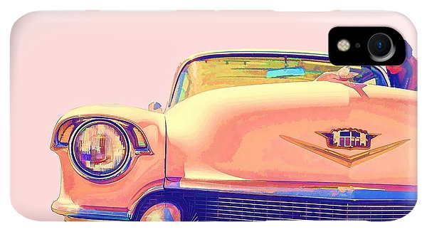 Etna iPhone XR Case - Elvis Presley Pink Cadillac by Edward Fielding