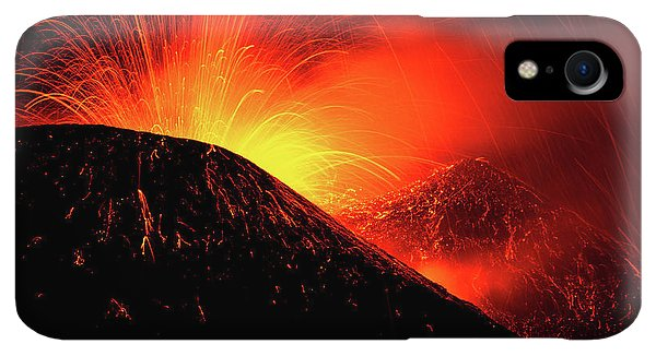 Etna iPhone XR Case - Eruption By Night by Simone Genovese