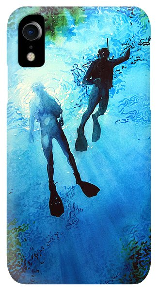 Scuba Diving iPhone XR Case - Exploring New Worlds by Hanne Lore Koehler